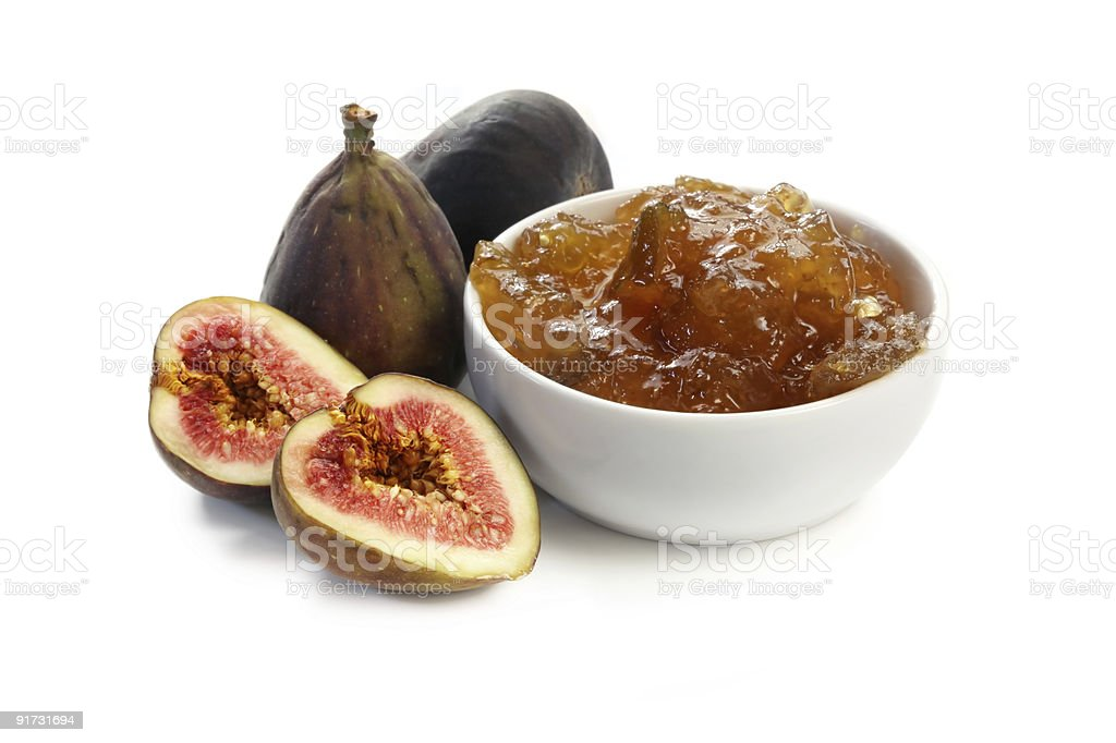 Figs and Fig Jam royalty-free stock photo