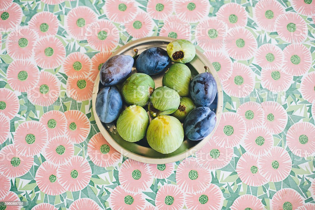 Figs and Plums royalty-free stock photo