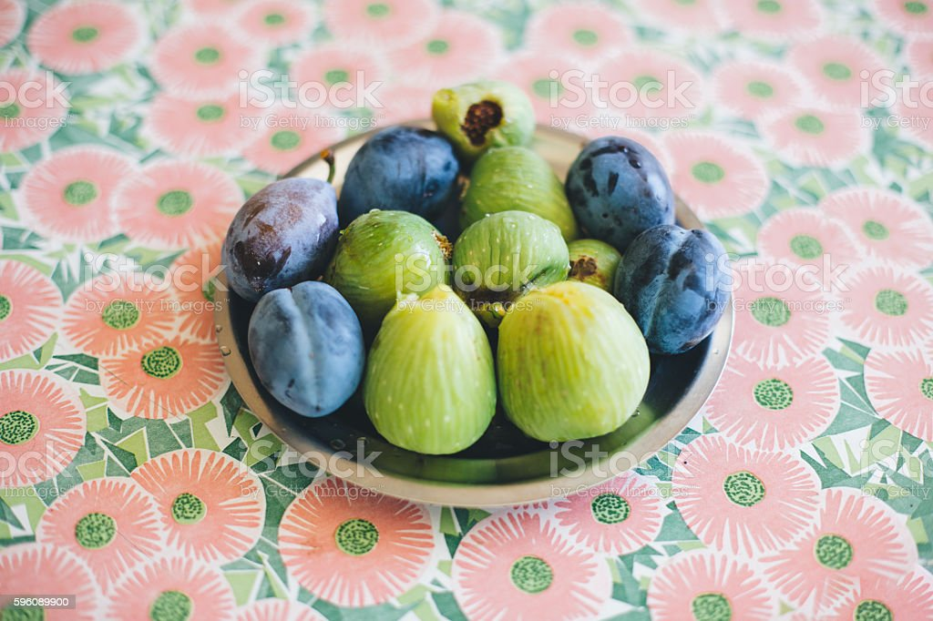 Figs and Plums Lizenzfreies stock-foto