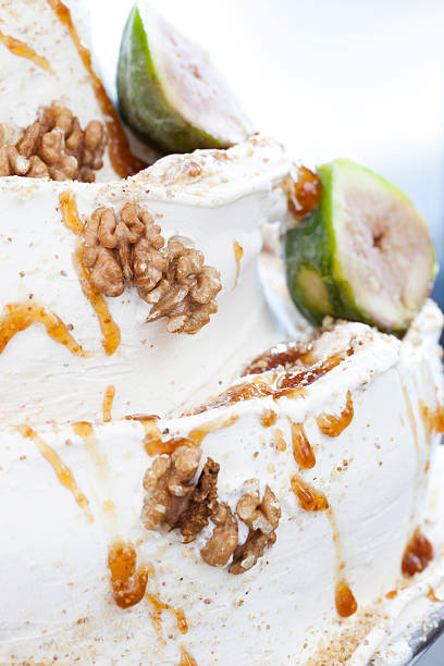 Figs And Walnut's Ice Cream stock photo