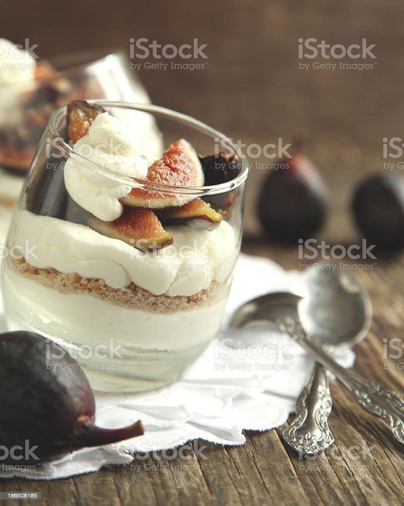 Figs dessert royalty-free stock photo