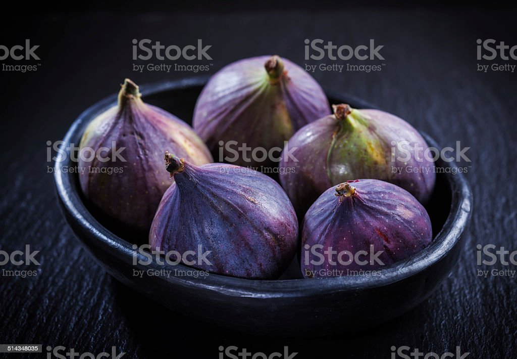 Figs in the bowl stock photo