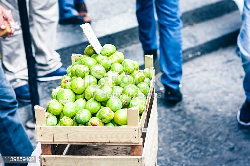 figs in the fruit market, Catania, Sicily, Italy