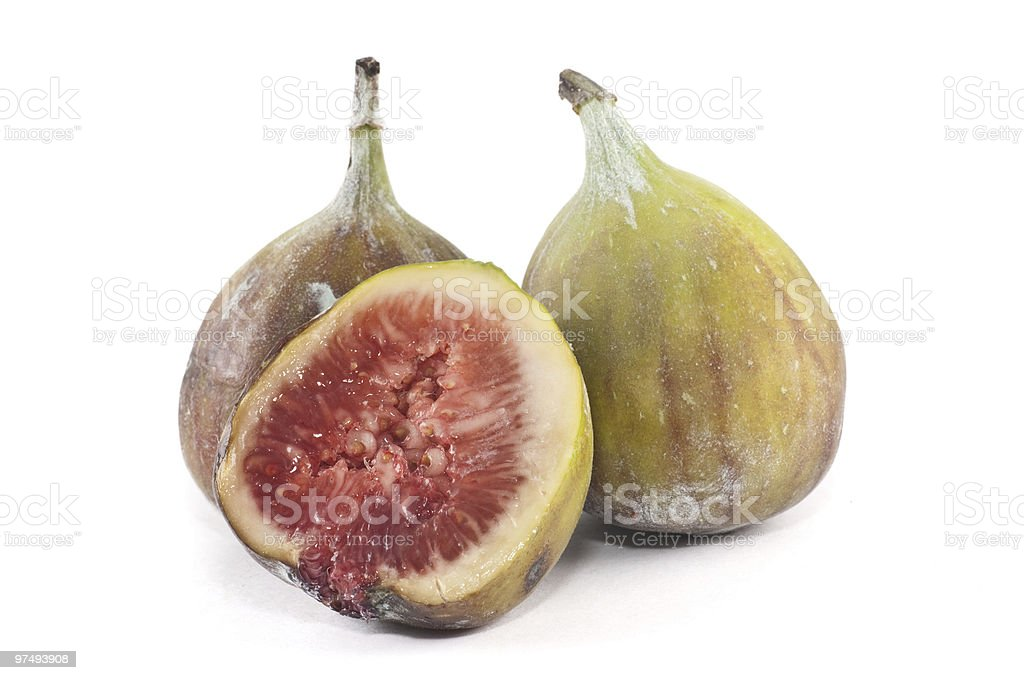 Figs isolated on white royalty-free stock photo