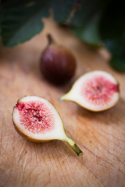 Figs on a Cutting Board stock photo