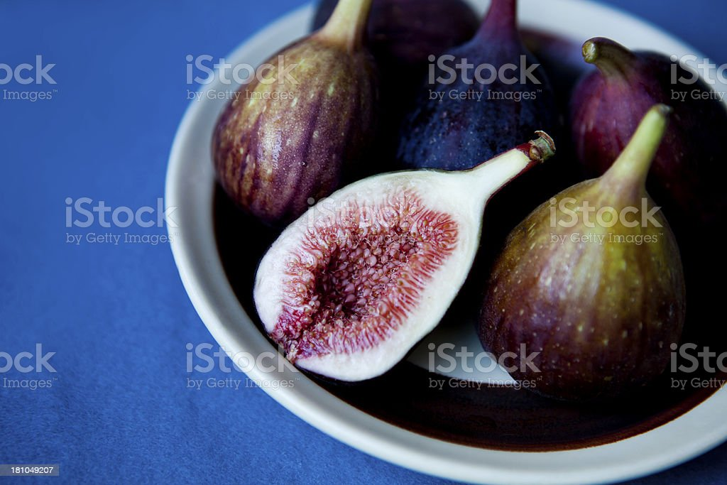 Figs On A Plate royalty-free stock photo