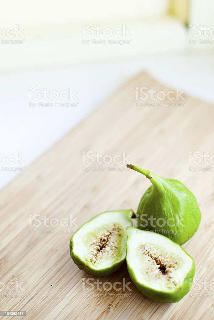 Figs on Cutting Board royalty-free stock photo
