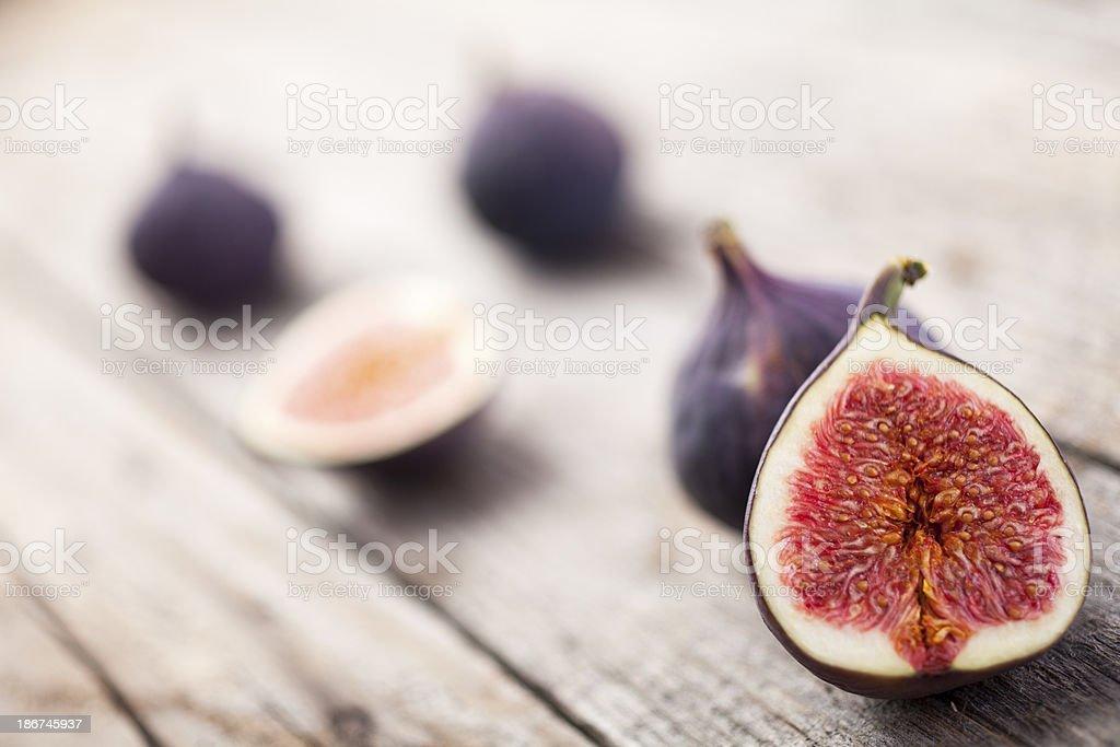 Figs on Wood stock photo