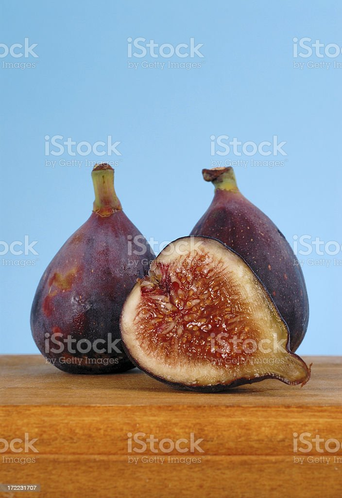 Figs on wooden board royalty-free stock photo