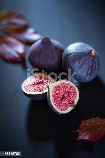 fresh figs on wood background