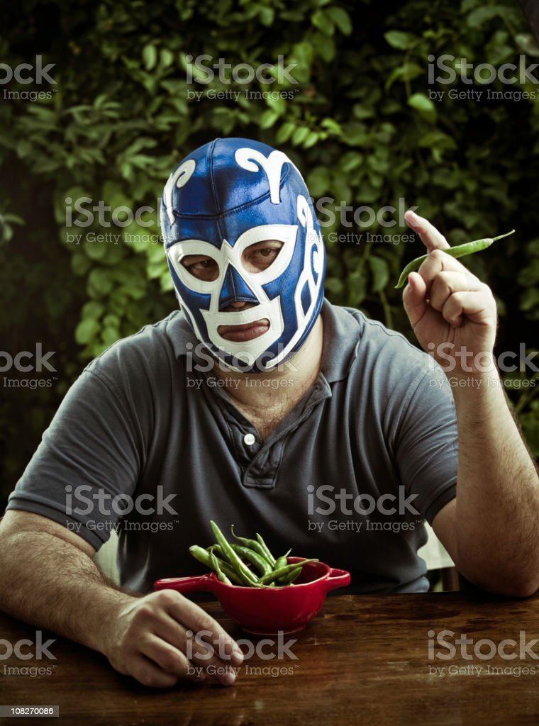 Lucha libre figther stock photo