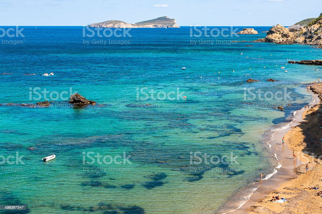 Figueral beach in Ibiza, Spain stock photo