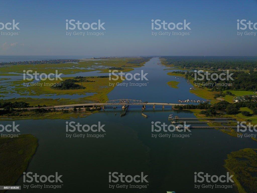 Figure 8 Island Bridge over ICW stock photo