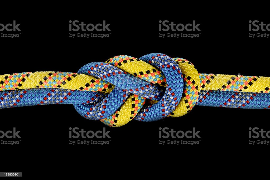Figure Eight Knot stock photo