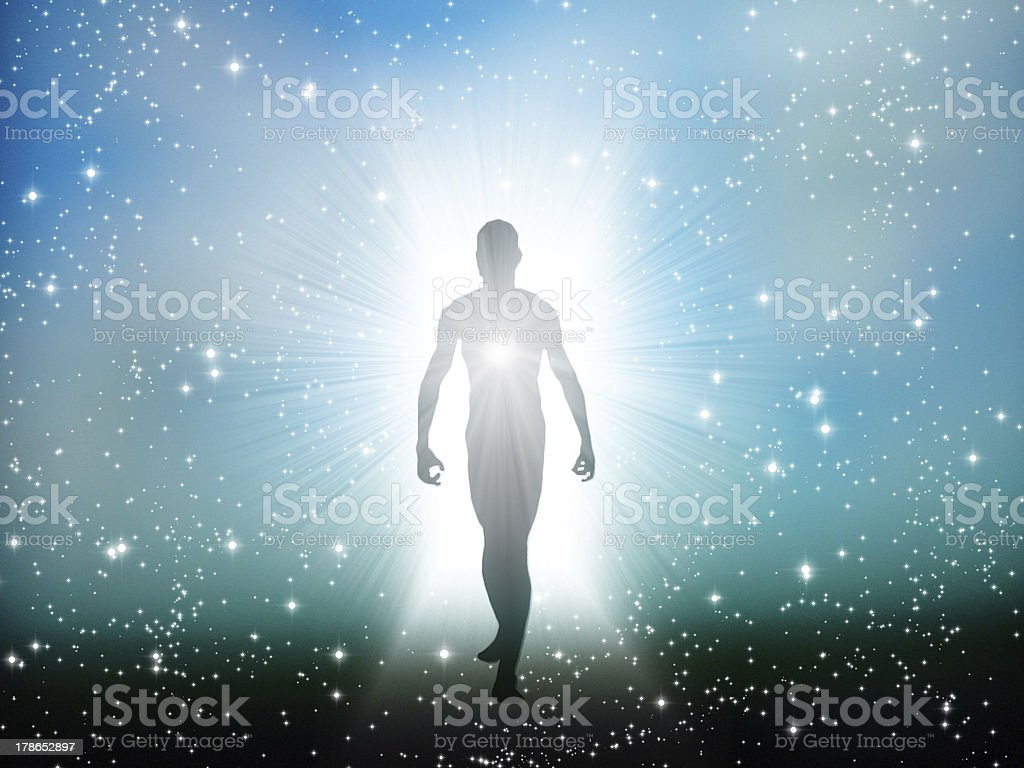 Figure emerges from the comos stock photo