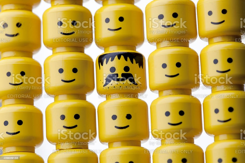 LEGO figure heads royalty-free stock photo