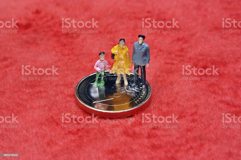 Figure miniature family stock photo