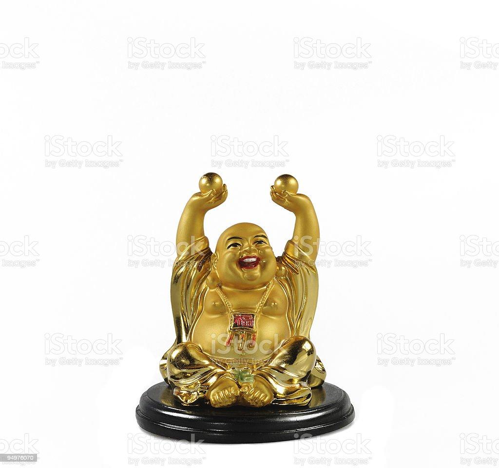 Figure of Budda isolated on white stock photo