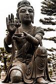 istock Figure of God Worship Buddha at Hong Kong Temple 1221608246