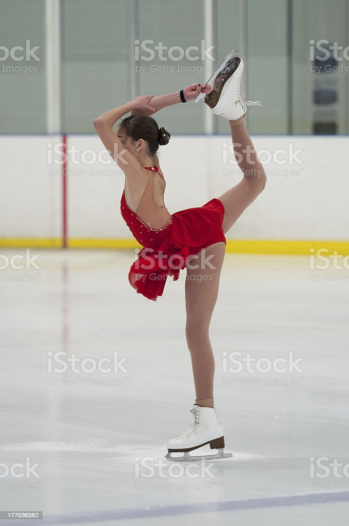 Figure Skater Holds a Pose stock photo