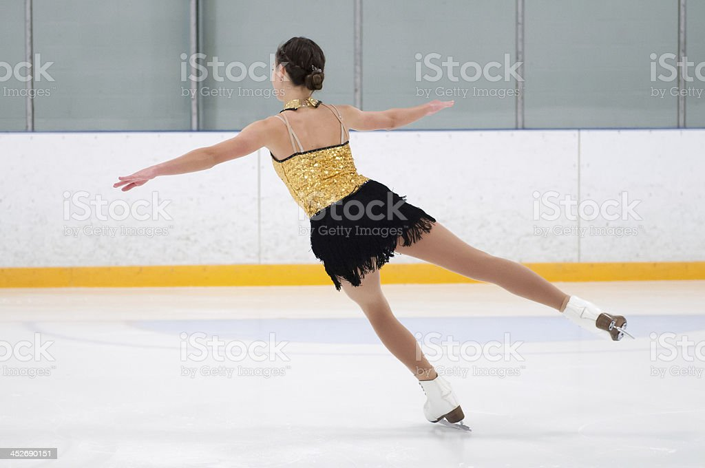 Figure Skater Practicing stock photo