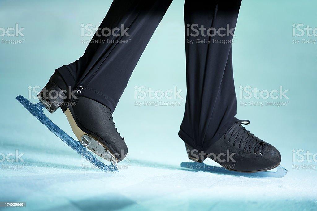 Figure skater training exercise. stock photo