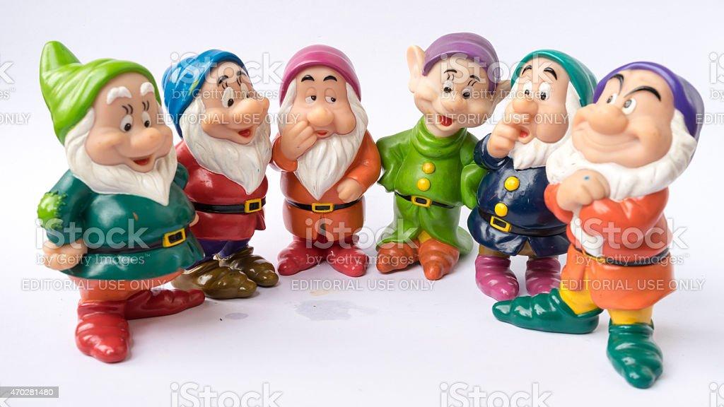 Figure toy of dwarf from Disney's fantasy film Snow White stock photo