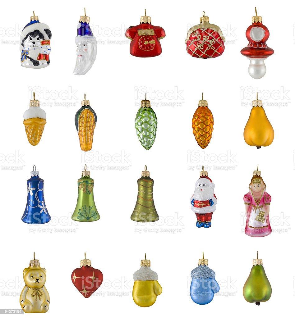 Figured Christmas toys royalty-free stock photo
