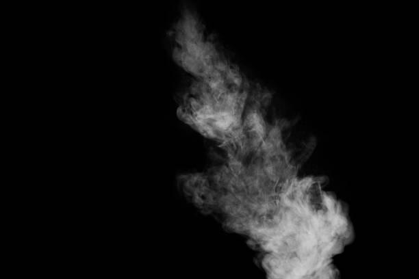 tänkte rök på en mörk bakgrund. abstrakt bakgrund, designelement, för överlagring på bilder - dimma png bildbanksfoton och bilder