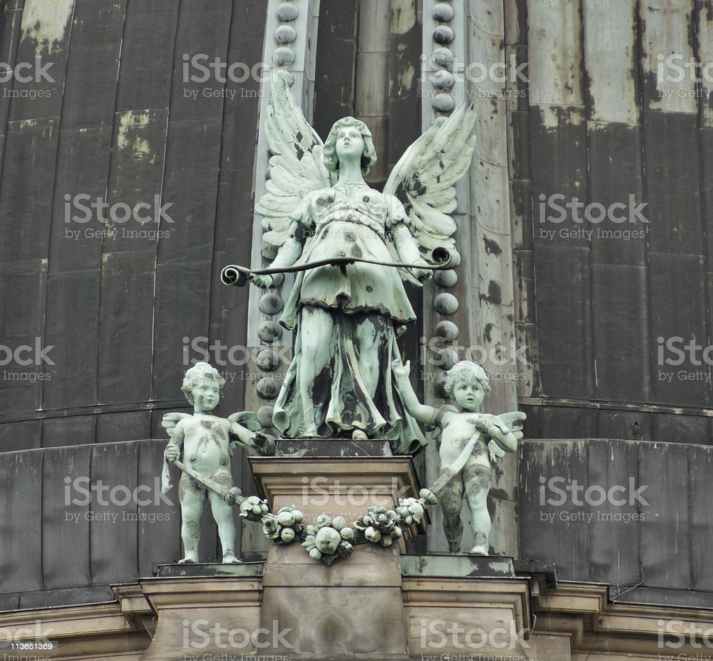 figures at the Berlin Cathedral royalty-free stock photo