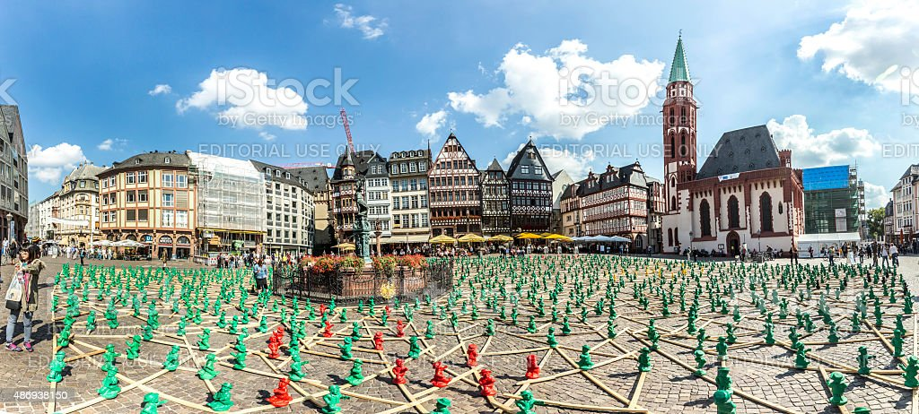 figures from Ottmar Hoerl to celebrate Germanys reunion stock photo