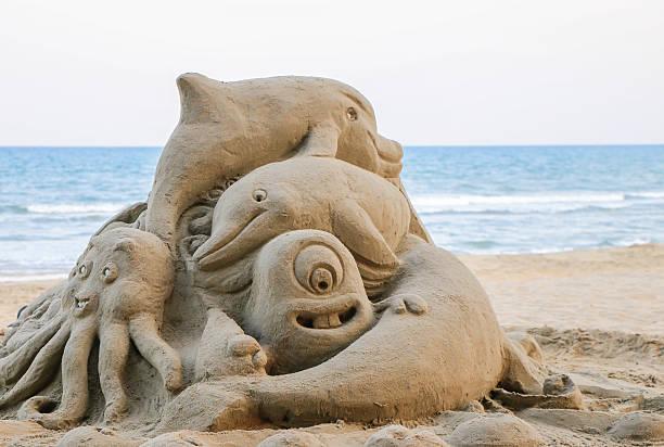 Zahlen aus den sand – Foto