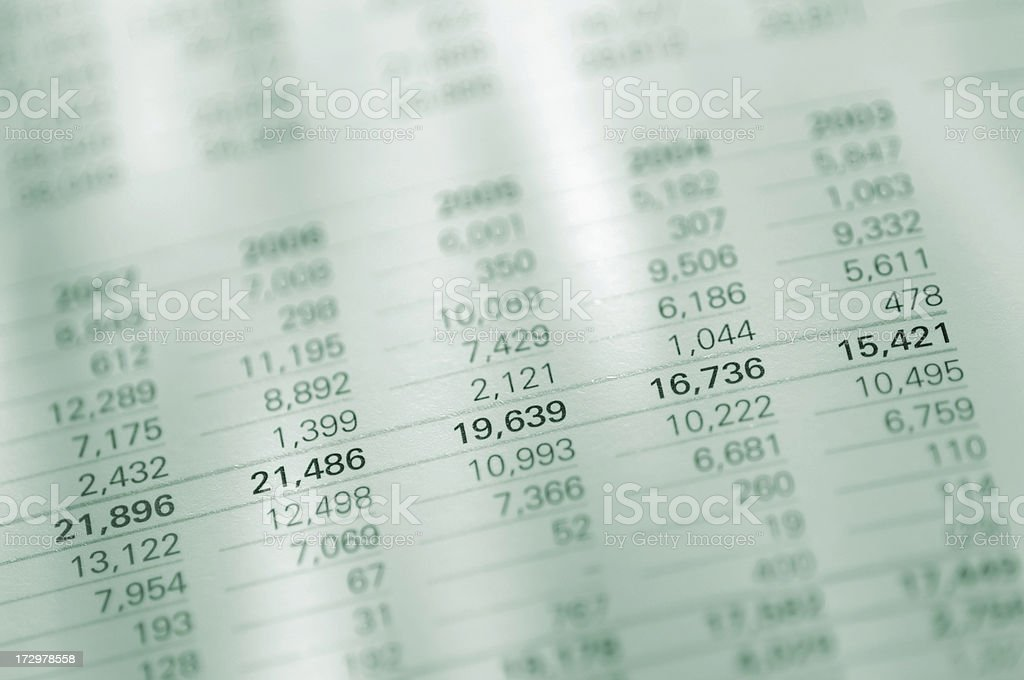 Figures in Report royalty-free stock photo