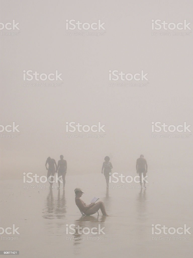 Figures in Sea Mist 3 royalty-free stock photo