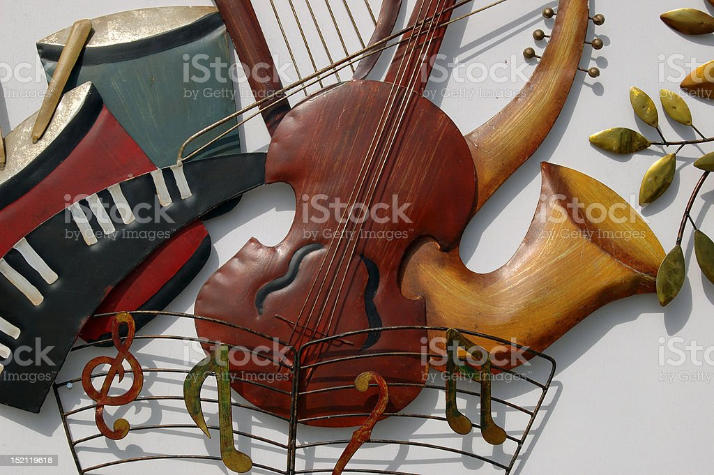 Figures Musical Instrument Craft royalty-free stock photo