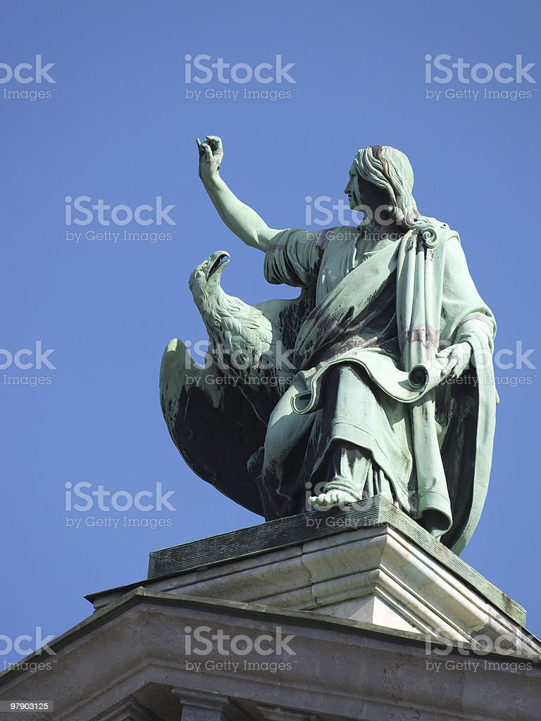 Figures of Isaakiy temple royalty-free stock photo