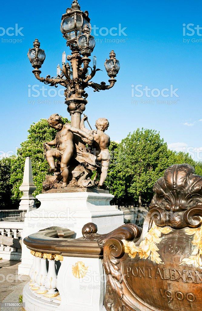 Zahlen auf Pont Alexandre III in Paris – Foto