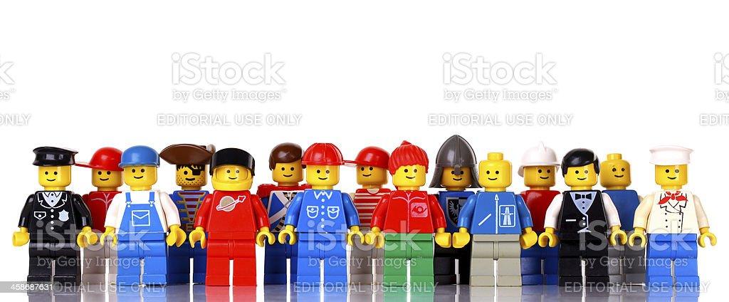 LEGO figures stock photo