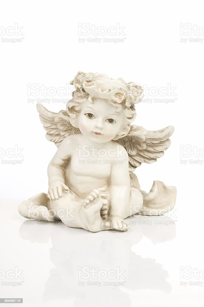 Figurine little angel royalty-free stock photo