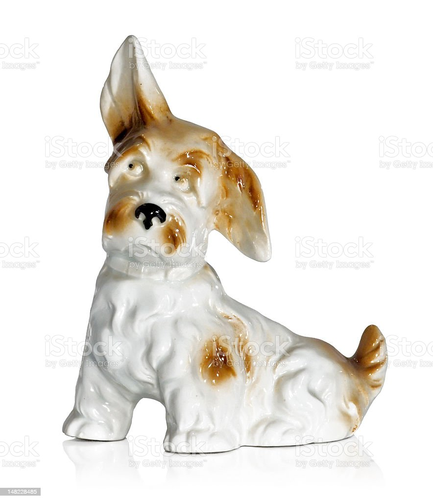 Figurine of a dog stock photo