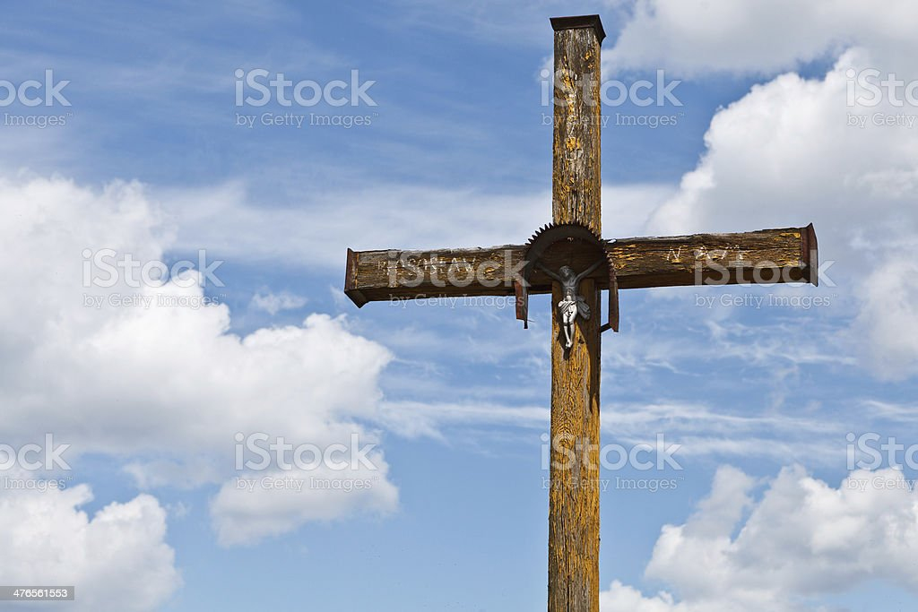 Figurine of Jesus on the cross royalty-free stock photo