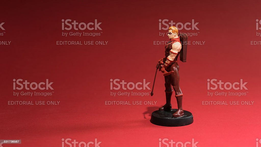 Figurine of Red Arrow or also known as Roy Harper stock photo
