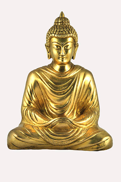 figurine of the buddha. - buddha stockfoto's en -beelden