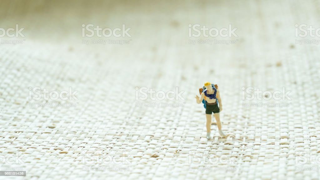 figurine travel man on the screen background - Royalty-free Abstrato Foto de stock