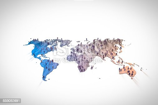 istock figurines standing on continents in world map 533052691