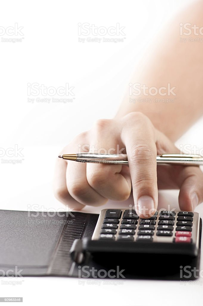 Figuring costs royalty-free stock photo