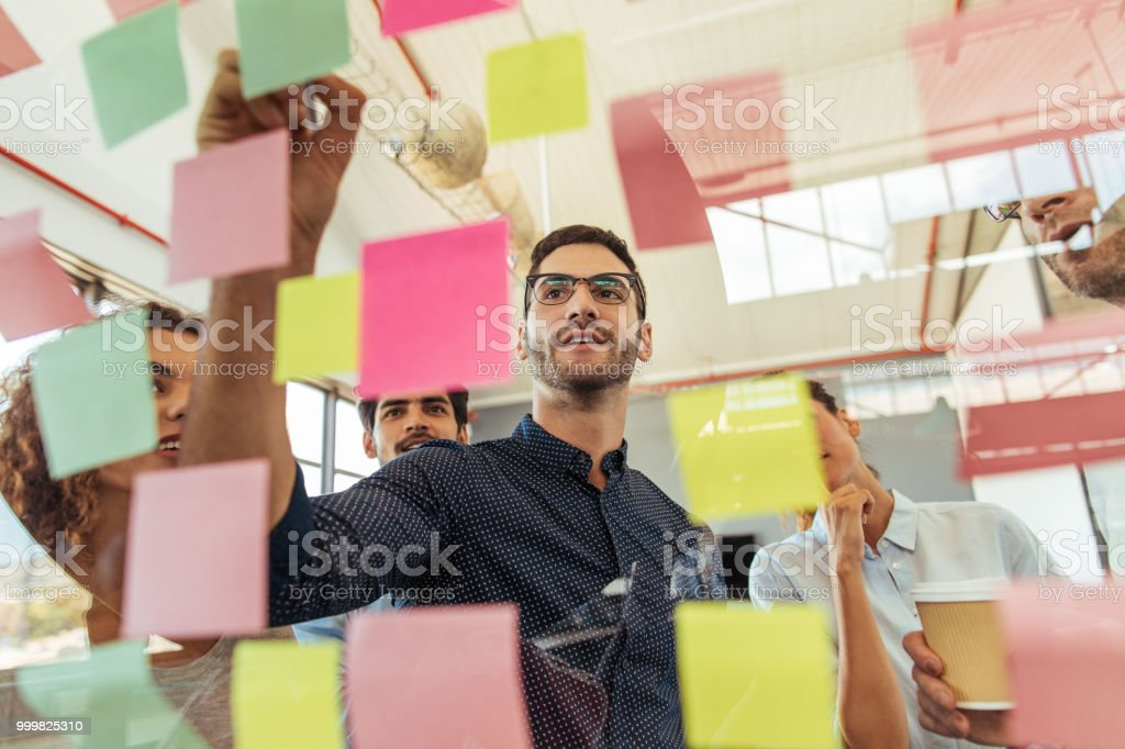 Figuring out strategies that involve their best ideas stock photo