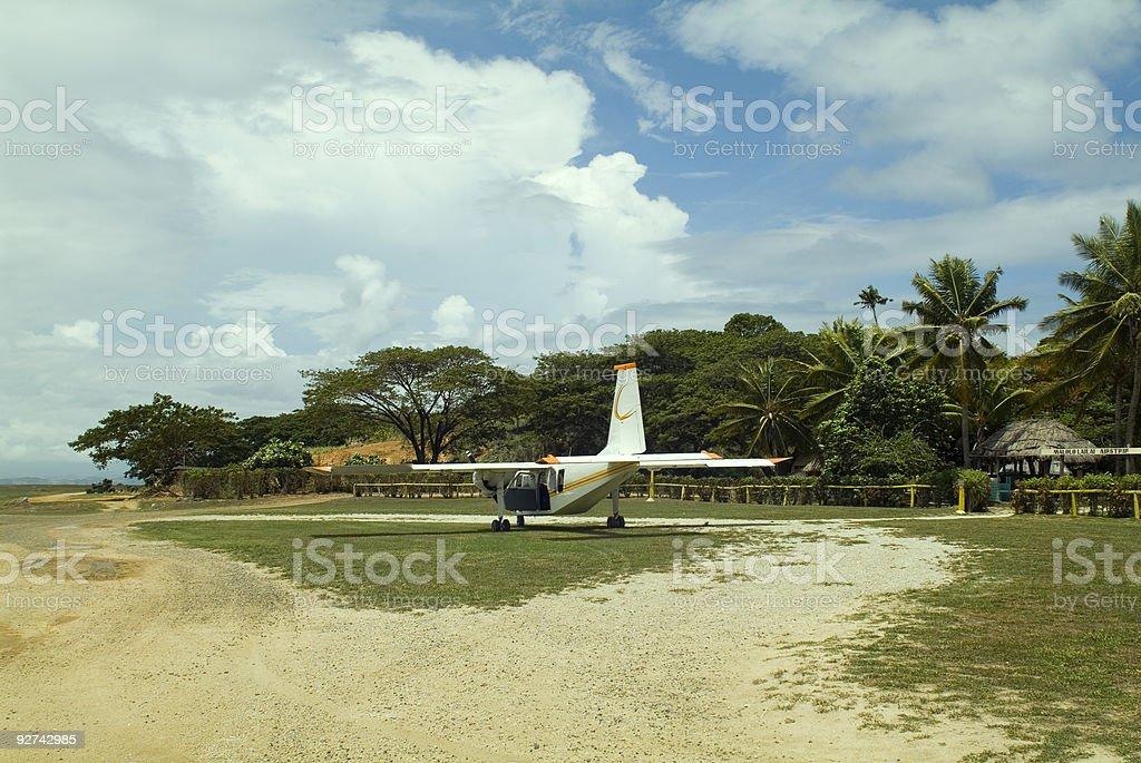 Fidschi, Airstrip Lizenzfreies stock-foto
