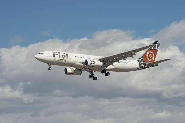 fiji airways arbus a330 - respiratory tract stock photos and pictures