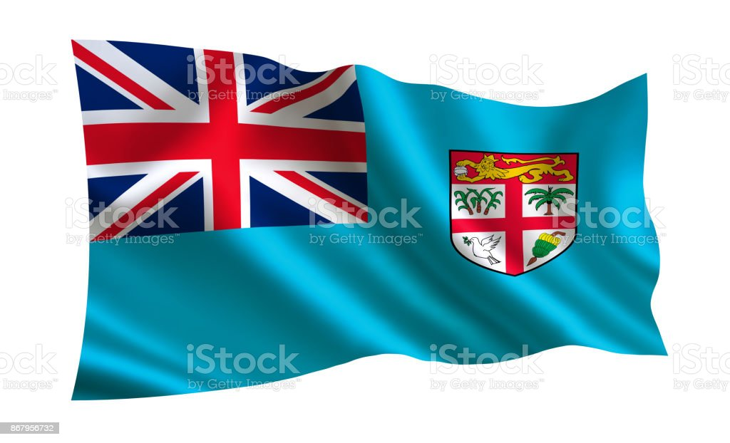 Fiji flag. A series of 'Flags of the world.'  ( The country - Fiji flag ) stock photo